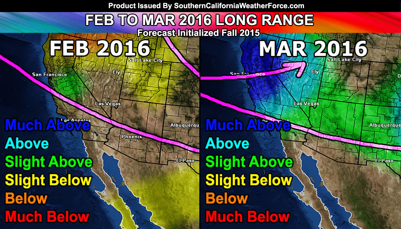 February And March 2016 Forecast The Start Of El Nino
