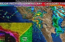Video Included:  Major Pacific Storm Hillary Impacts Thursday Morning; Tornado Watch In Place