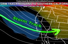 Long Range:  Storms To Return In Waves After February 18th For Southern California