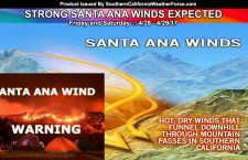WARNING: Strong Santa Ana Winds Pose High Fire Weather Threat Through Saturday