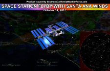 Countdown:  International Space Station Comes Out With Offshore Flow This Evening