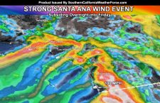 Santa Ana Wind Event Subsiding After Today;  But Are Changes Coming After 10 Days?