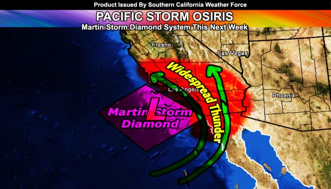 Pacific Storm OSIRIS Now Official At Category Three:  Storm Aims For Martin Storm Diamond Within Martin Storm Pattern