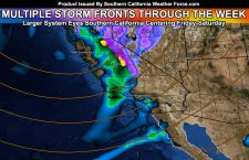 Rain To Start West of LA Today, LA South and Eastward Tuesday, Strong System By End Week; Details