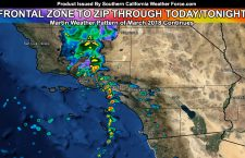 Sharp Frontal Zone To Move Through West of Los Angeles This Evening; East Overnight; Details