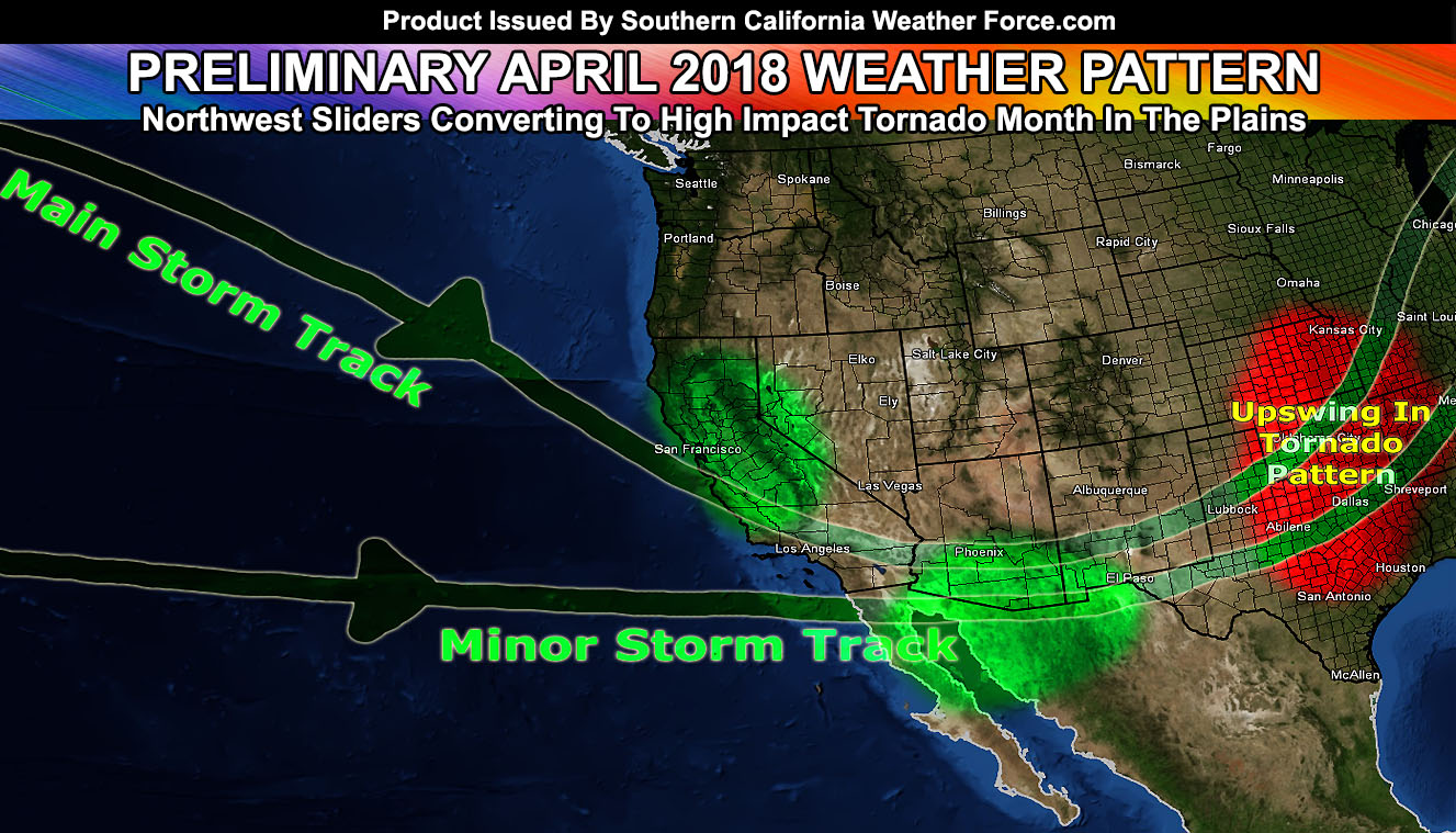 Preliminary April 2018 Weather Forecast Pattern For Southern California