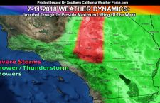 Inverted Trough To Provide Lifting For Shower and Thunderstorm Activity Inland; Details