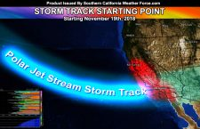 California Storm Pattern:  First Of El Nino's Jet Stream Influence To Hit After November 19th, Could Be Prolonged