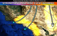 Santa Ana Wind Watch Issued;  Moderate to Strong Offshore Event Expected by Thursday