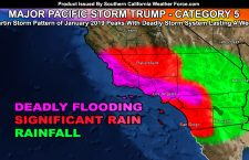 DETAILED:  Major Pacific Storm TRUMP Starts Off As Category Five;  First Section To Hit Tonight into Saturday For Southern California
