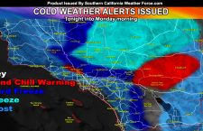 Cold Weather Alerts Issued For Majority of Southern California Through Monday Morning