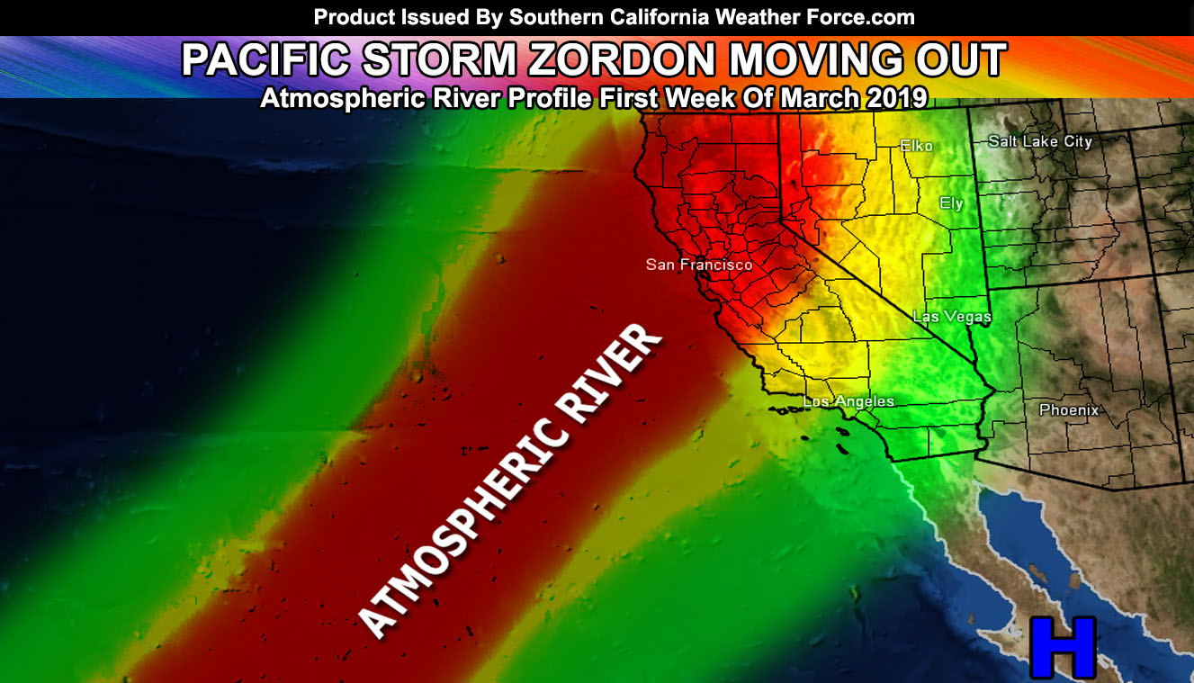 Pacific Storm Zordon Moves Out Overnight Tonight
