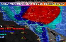 Pacific Storm Warren Moving Out Tonight; Cold Weather Alerts and Wind Chill Warnings Issued