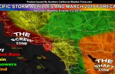 Detailed:  March 2019 Weather Forecast Pattern For Southern California;  Pacific Storm Achilles This Weekend