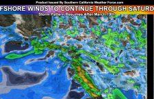 Santa Ana Wind Pattern To Continue Through Saturday;  Next Storm Pattern On The Horizon