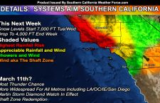 More Storm Systems Line Up For Southern California Crossing; Complete Details Released; Including A Martin Storm Diamond Watch