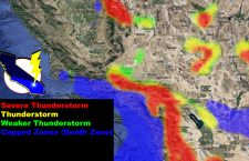 Pacific Storm DICK Sags Downward, Dynamics Target Inland Metro Zones Today; Inland Severe Thunderstorm Watch Issued