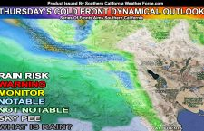 Initial Details; Northwest Slider Cold Front To Cross Southern California On Thursday