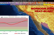 Alerts Issued:  Inland Heatwave To Hit Southern California; Earthquake Model Update With Zones