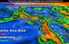 WARNING: Most Dangerous Fire Weather Pattern Of The Season: Santa Ana Wind Warning With Embedded Fire Weather Warning Issued