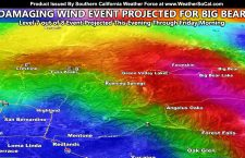 Damaging Winds Projected To Impact Big Bear Lake This Evening Till Friday Morning In Mountain Wave Event