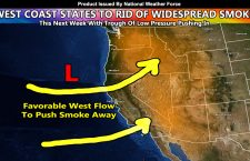 Dense West Coast Smoke To Be Pushed East After The Weekend and Into Next Week With Air Quality Improving; Pacific Northwest Rain