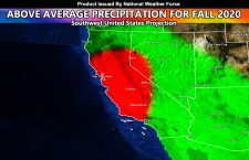 Fall 2020 Forecast Projected To Have Above Average Precipitation For Southwest United States For Catastrophic Flooding In Burn Areas ; National Weather Force