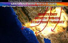Deadly Heatwave To Breakdown To Santa Ana Wind Pattern; Santa Ana Wind Watch Issued