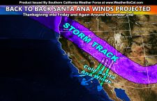 Back To Back Santa Ana Wind Events:  Special Weather Statement Issued A Week Ahead Of The Next Santa Ana Wind Event For Early December; Details