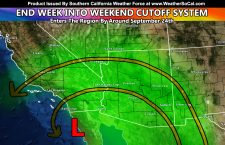 Cutoff Low To Provide Upswing in Precipitation Across Portions of the Southland Starting End This Week and Going Well Into The Next Several Days Thereafter